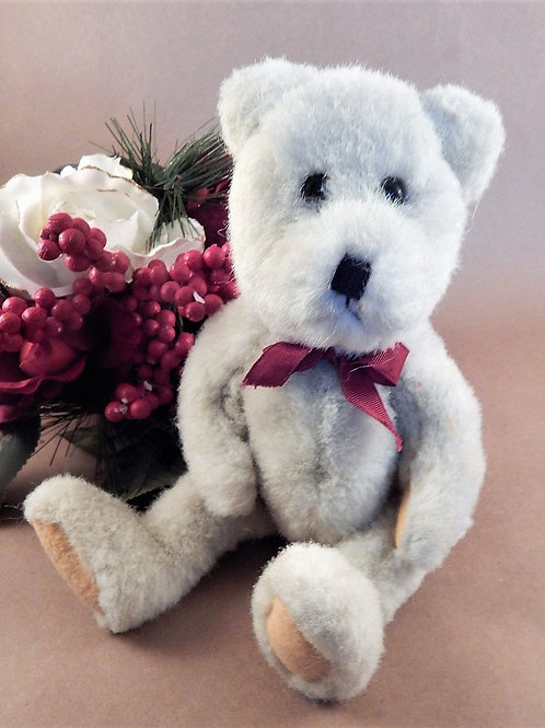 """BOYDS Bear Stuffed Animal 12"""" Beige Jointed Boyds Collection Vintage 1990s Toy"""