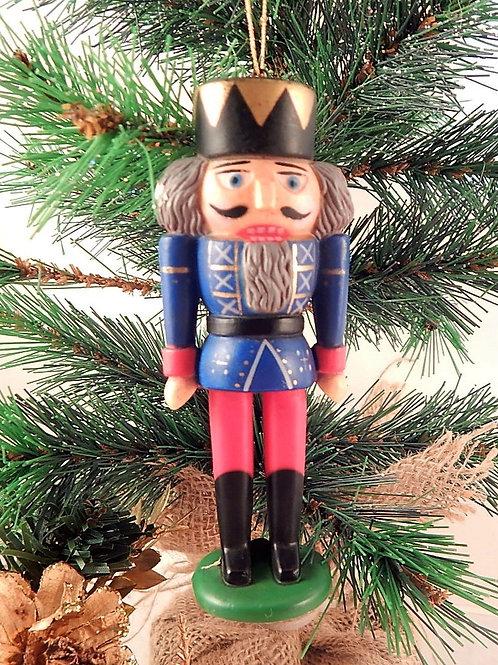 Vintage Celluloid Nutcracker Soldier Christmas Tree Ornament 1950s Handpainted celluloid, hard molded plastic figurine Tradi