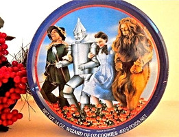 Wizard of Oz Cookie Tin Metal Storage Container