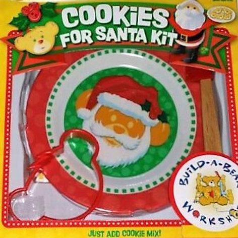 christmas, baking, cookies, cookies for santa, build a bear, bear, cookie cutter, santa cookie plate, childrens, baking set,