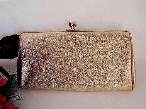 vintage, purse, evening bag, vintage gold handbag, vintage fashion accessory, 1970s fashion, gold purse, formalwear,