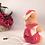 Thumbnail: Santa Bear Pick Flocked Plastic Vintage 1960s Retro Christmas