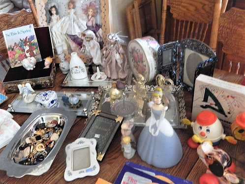 Photograph of vintage antique kitchen items representing A Vintage Addiction mystery subscription treasure box.