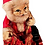 Rustic Santa Claus Christmas tree ornament Flat bottom for using as a free-standing ceramic figurine Traditional Santa