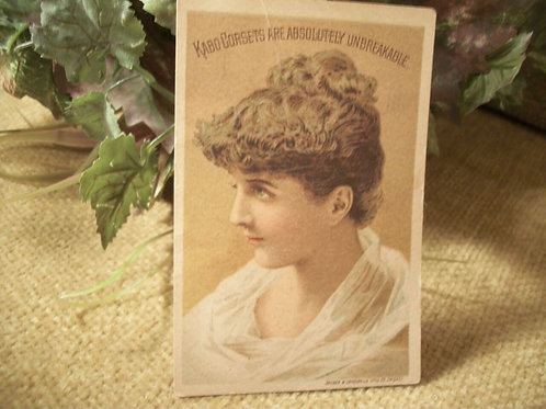 advertising card, kabo corset, boudoir decor, paper ephemera,victorian,fashion history,craft supply,decoupage collage
