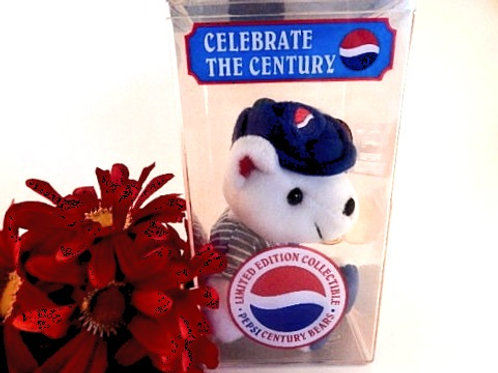 Pepsi Teddy Bear Celebrate the Century Millennium Collectible Limited Edition 2000 Lil Leaguer NIB