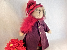 Bear Bearington Queen Fedora Purple Coat
