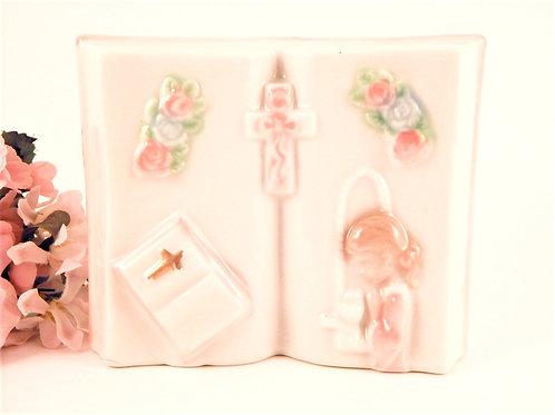 bible,  figurine, christian gift, first communion, communion gift, confirmation gift, baptism gift, baby dedication gift,