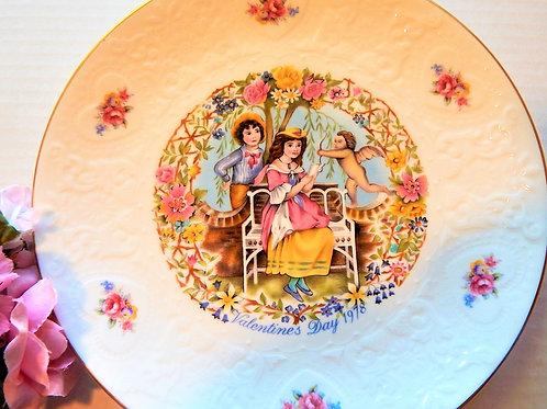 Valentines Day Plate Royal Doulton Vintage 1978 Provencal Floral Garden Giftware