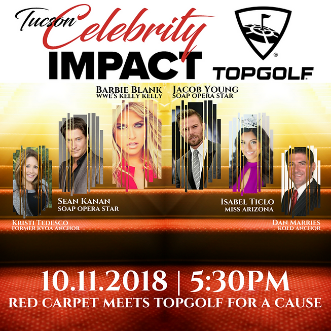 Celebrity IMPACT Topgolf Social Media Sq