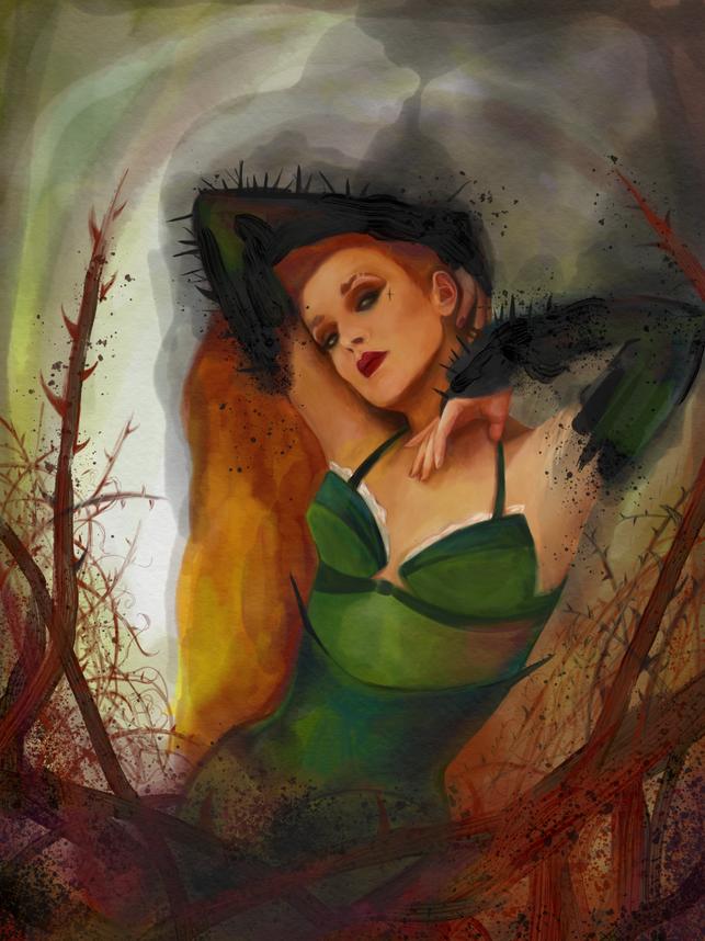 Jerry Hall x Poison Ivy