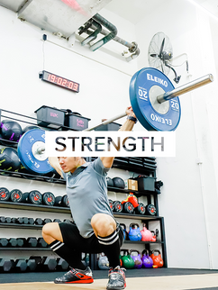 Olympic Lifting and Strength & Conditioning classes to build overall strength. Click to see Strength classes & schedules.