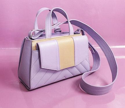Bolsa Didê em couro lilás