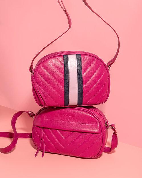 Bolsa Faebi Arizona pink em couro