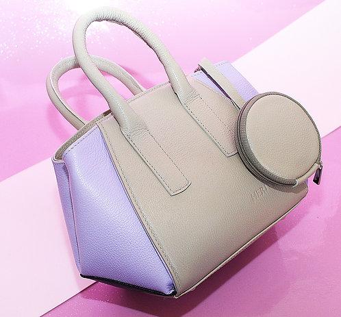 Bolsa Lala Petit em couro lilás