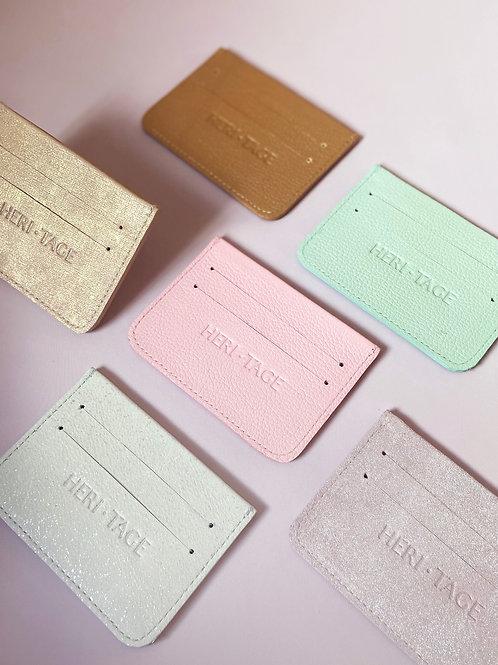 Porta cartão personalizável em couro