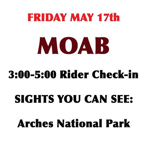 MOAB: Friday, May 17th