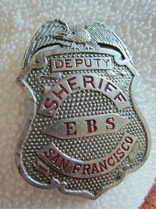 1930's SHERIFF San Francisco DEPUTY BADGE California