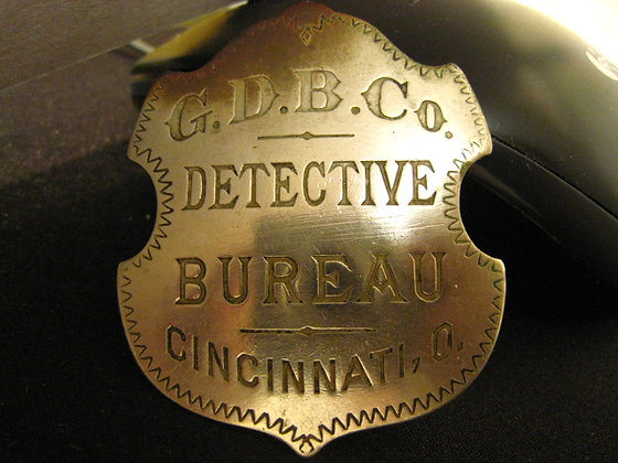 Antique Badge Detective Agency Bureau 1880's Book Author too!