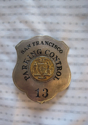 SAN FRANCISCO Parking Control STERLING Badge S.F. Maker