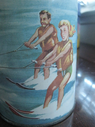1959 School Lunch Thermos Bottle LAKE CLASSIC BOAT