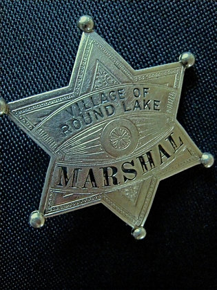 Marshal's Badge VILLAGE OF ROUND LAKE Illinois 6 POINT STAR