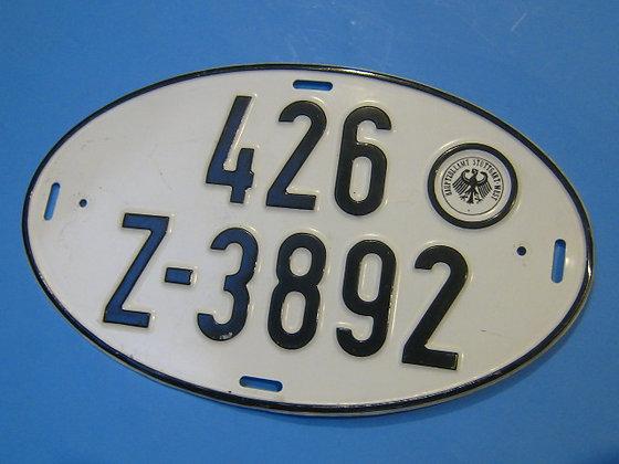 German Car License OVAL Germany STUTTGART WEST