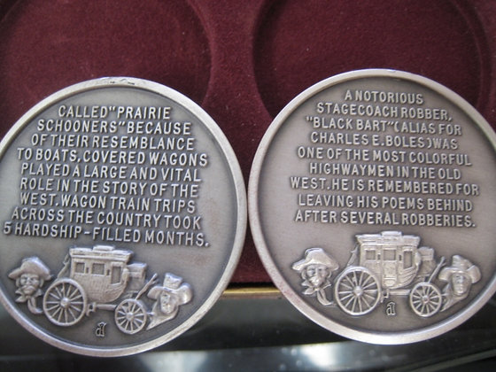 2 + Troy Oz.  Pure Silver  Medallions LONGINES -
