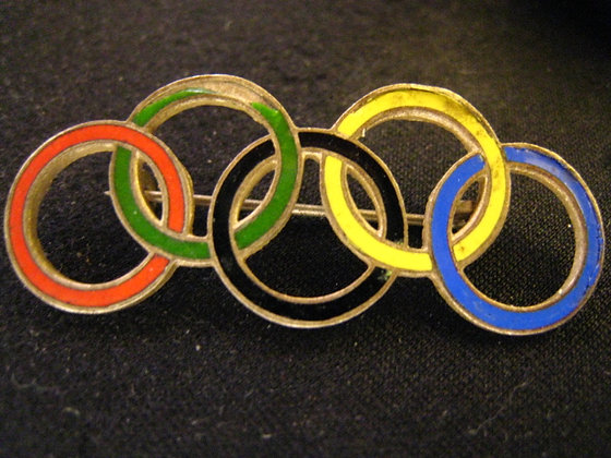 OLYMPICS - Five Olympic Rings PIN BROACH Germany