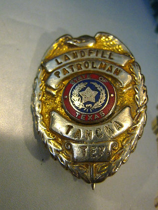Vintage Badge TAHOKA TEXAS Patrolman NOT POLICE