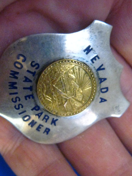 Sterling Silver Badge NEVADA STATE PARK COMMISSIONER Not Police