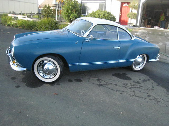 1964 KARMANN GHIA Volkswagen 2-TONE PAINT Fat Whitewall Tires