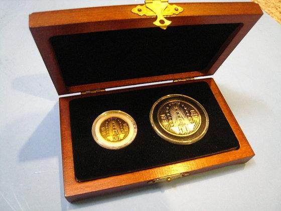 Half Once Gold + Silver Coin GOLDEN GATE BRIDGE