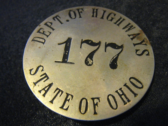 Pin Badge STATE OF OHIO Department of Highways - R
