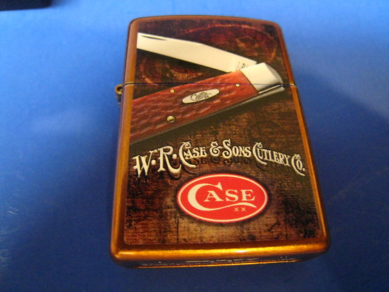 New Old stock ZIPPO LIGHTER Case & Sons Cutlery Co