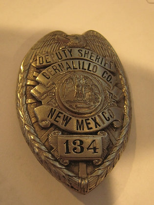 Antique Badge DEPUTY SHERIFF Bernalillo County NEW MEXICO Halmark