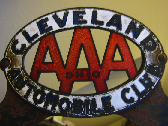 Car License Plate Topper AAA CLEVELAND OHIO AUTO