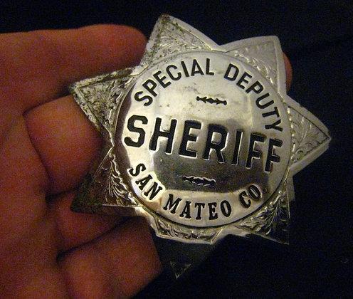 BADGE San Mateo Co SHERIFF CALIFORNIA Hallmark S.F
