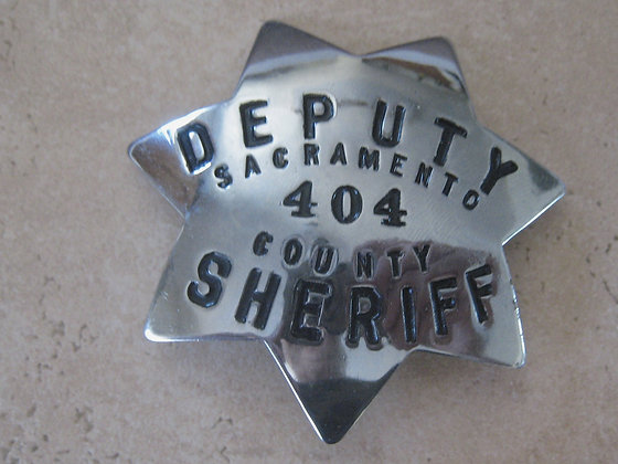 Vintage Badge DEPUTY SHERIFF Sacramento County California
