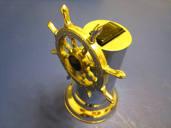 1950's SHIP WHEEL LIGHTER - Chrome -