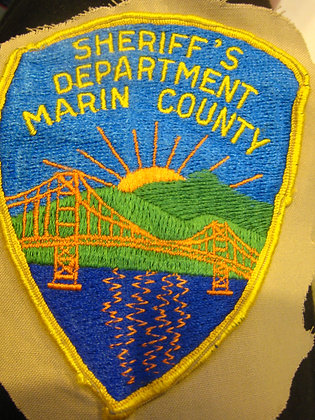 Vintage Police Patch MARIN CO. SHERIFF Golden Gate