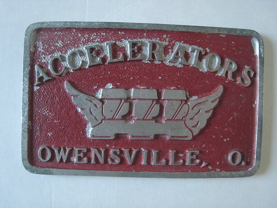 1950's CAR CLUB PLAQUE Owensville Ohio CALIFORNIA FOUNDRY