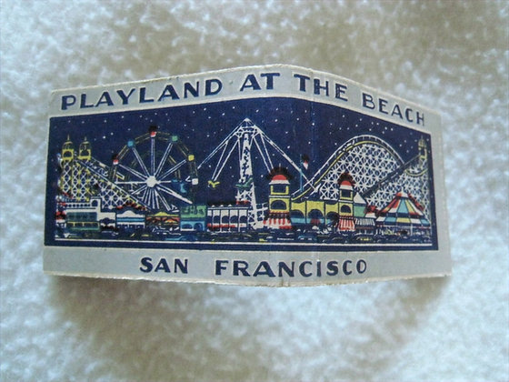 1940'S MATCHBOOK Playland at the Beach SAN FRNACISCO