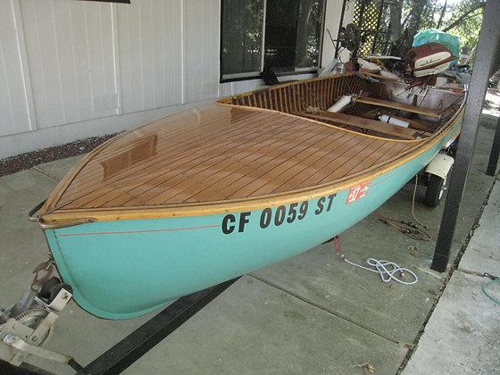 Boat - Vintage Johnson Outboard Motor +
