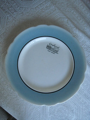 Large Dinner Plate GREYHOUND BUS Post House RESTAURANT
