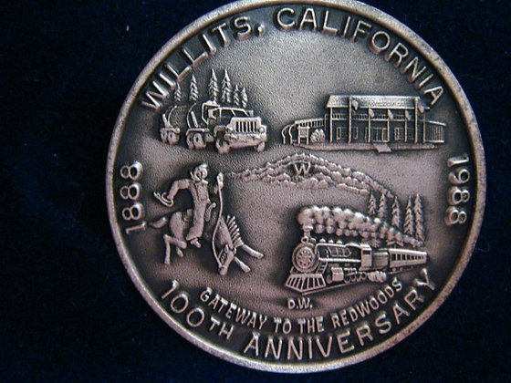 WILLITS, MENDOCINO COUNTY 0.999 SILVER MEDALLION