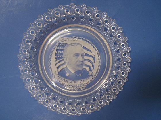 Spanish American War  Glass Plate ADMIRAL DEWY