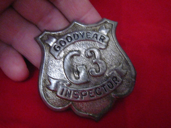 Antique Badge GOODYEAR TIRE CO. Factory Inspector