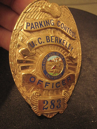PARKING OFFICER BADGE University of California BERKELEY Police