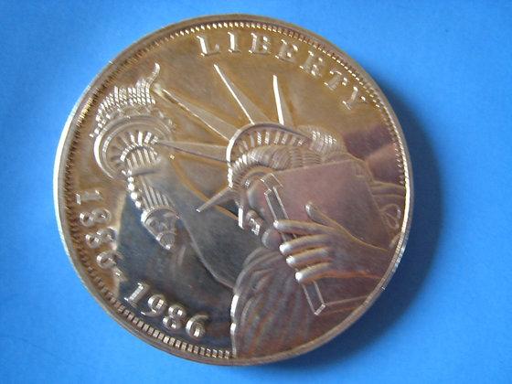 5 Troy Ounces .999 Silver ELLIS ISLAND NEW YORK -